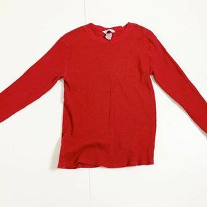 The Company Store redThermal Knit Waffle top